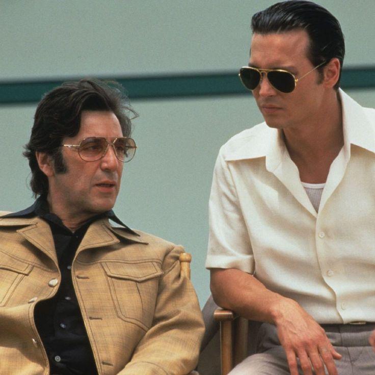 """Al Pacino y Johnny Depp en """"Donnie Brasco"""", 1997"""