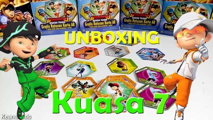 Unboxing #21 Choki Choki kardus ar boboiboy terbaru kuasa tujuh augmente...