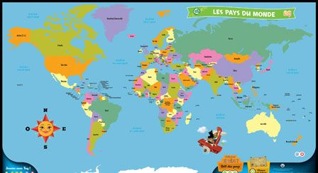 232 best carte du monde images on pinterest cards worldmap and tag mappemonde interactive leapfrog sciox Choice Image