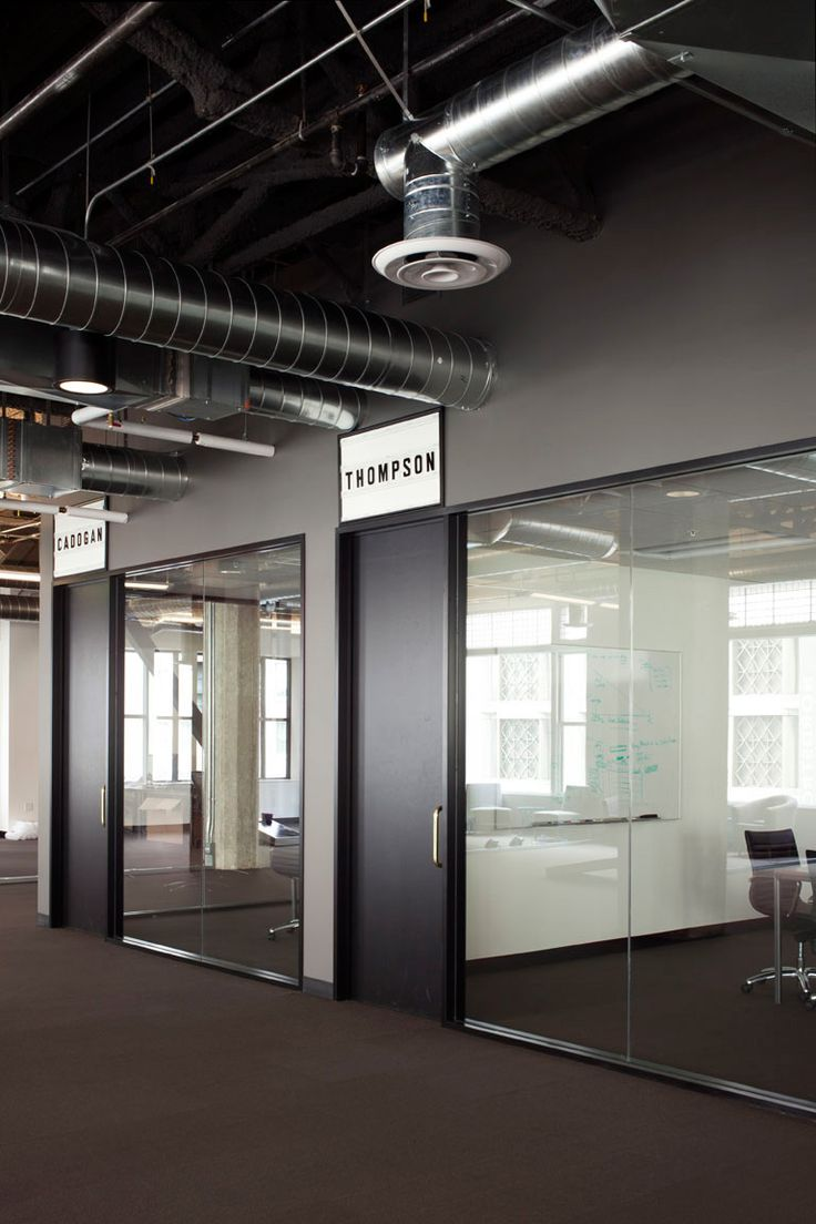 industrial office space. meeting rooms with glass walls industrial office space