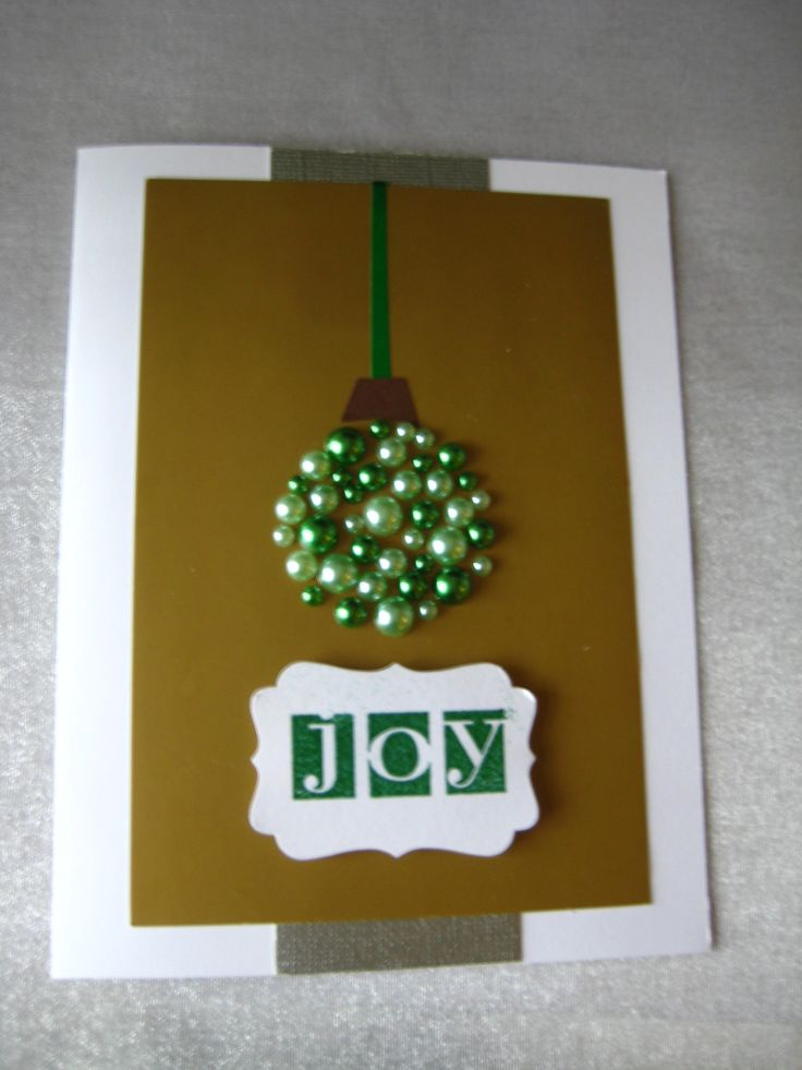 Stampin Up and pearl bling ornament
