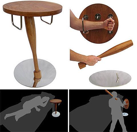 Anti-Zombie night table. For when the apocalypse comes in the night...