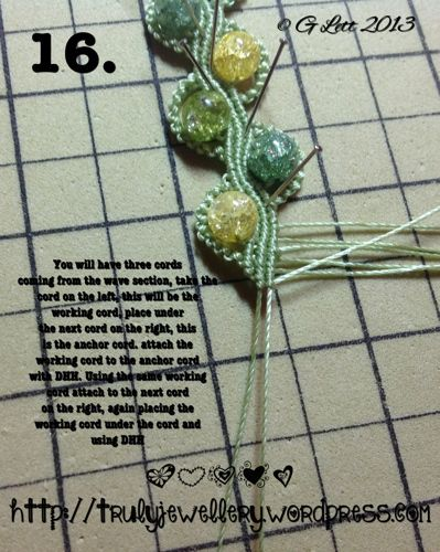 All at Sea Micro Macrame Bracelet tutorial picture 16