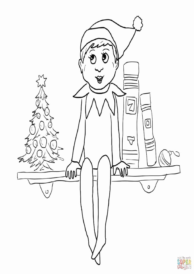 Christmas Elf Coloring Page New Elf the Shelf Coloring