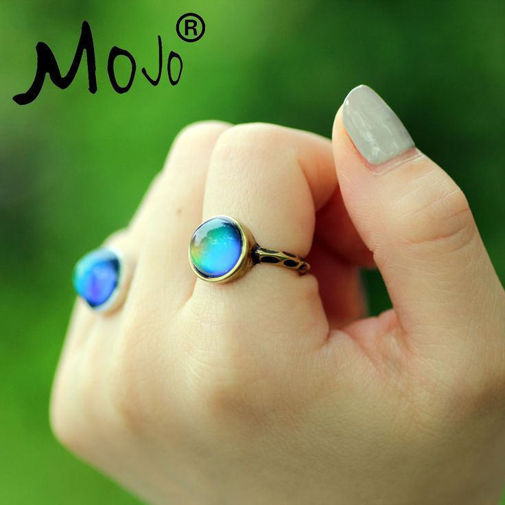 1 PC Antique Bronze Plated Color Changing Mood Rings Changing Color Temperature Emotion Feeling Rings Set For Women/Men MJ-RG002 * Visit the image link more details.