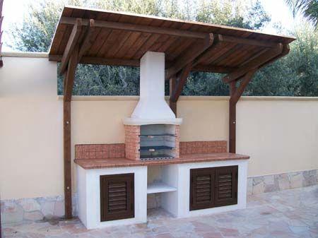 17 migliori idee su cucine da esterno su pinterest - Cucina in muratura per esterni con barbecue ...