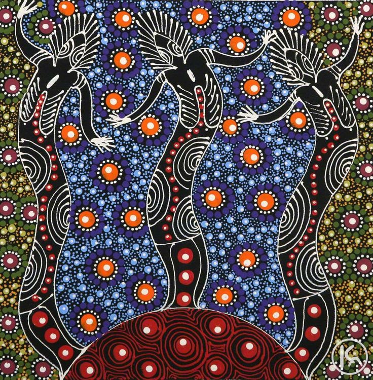 Aboriginal Art Dreamtime <b>dreamtime</b> sisters by colleen wallace nungari from santa ...