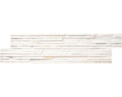 Revêtements plats en pierre naturelle mini rods blanc 15x60 cm