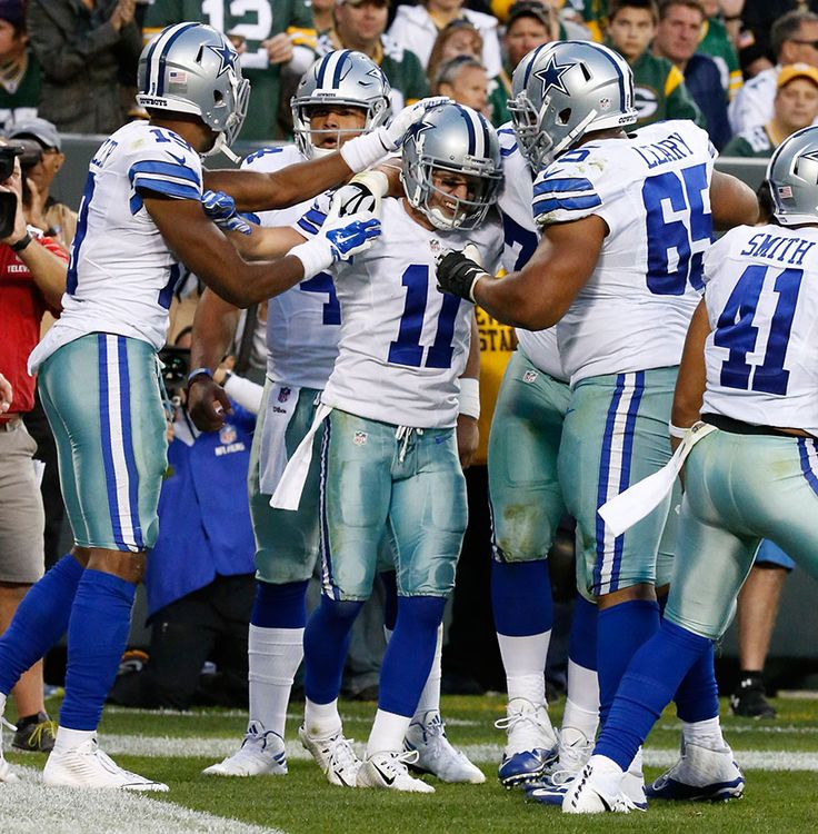 Cowboys vs. Packers:     October 16, 2016   -  30-16, Cowboys  -       Dallas Cowboys wide receiver Cole Beasley celebrates a touchdown.