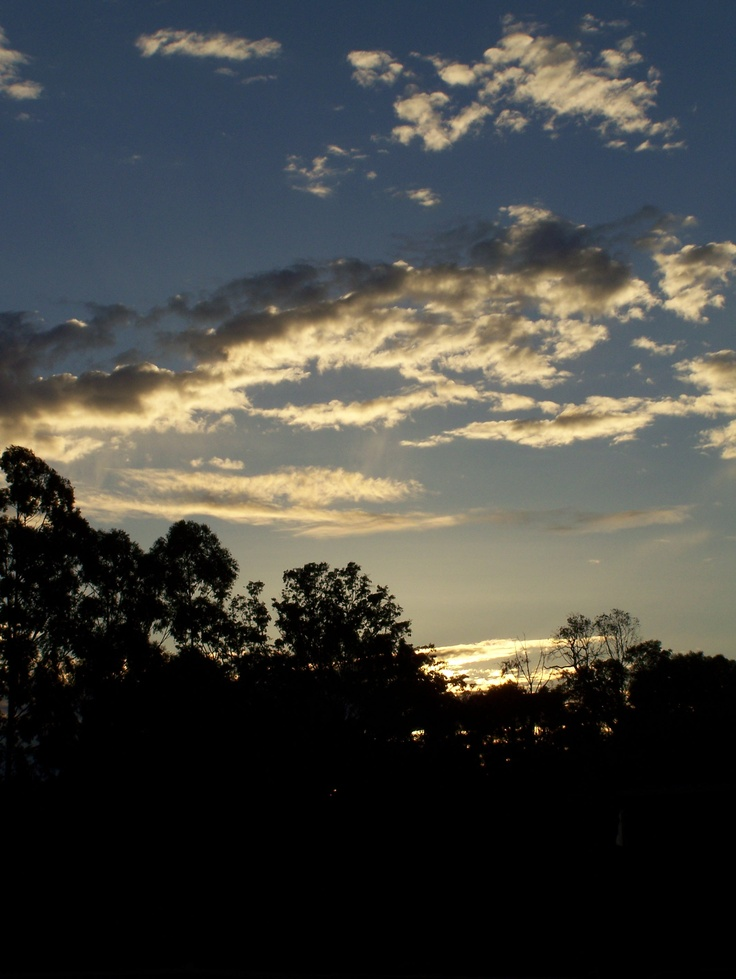 Sunset of Australia. Mount Helena, Perth WA