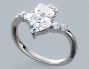 hello kitty wedding rings hello kitty x swarovski elements curve - Hello Kitty Wedding Ring