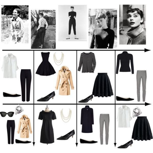 15 Item Capsule Wardrobe (Style Icon Audrey Hepburn) by minimaliststylist on Polyvore featuring мода, Coldwater Creek, Burberry, Harrods, Chicwish, M&S Collection, Missoni, Charles by Charles David, MICHAEL Michael Kors and Chanel