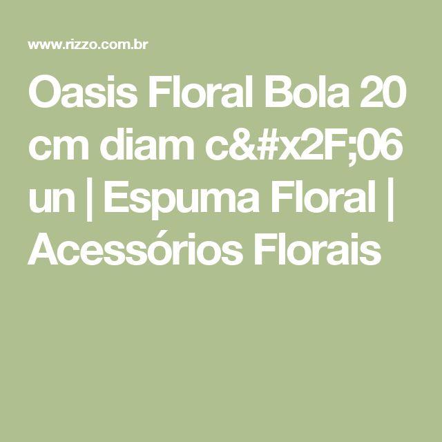 Oasis Floral Bola 20 cm diam c/06 un | Espuma Floral | Acessórios Florais