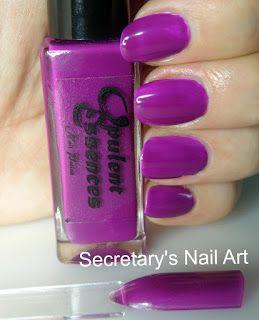 Secretary`s Nail Art: Opulent Essences - Taste The Rainbow Collection - Grape