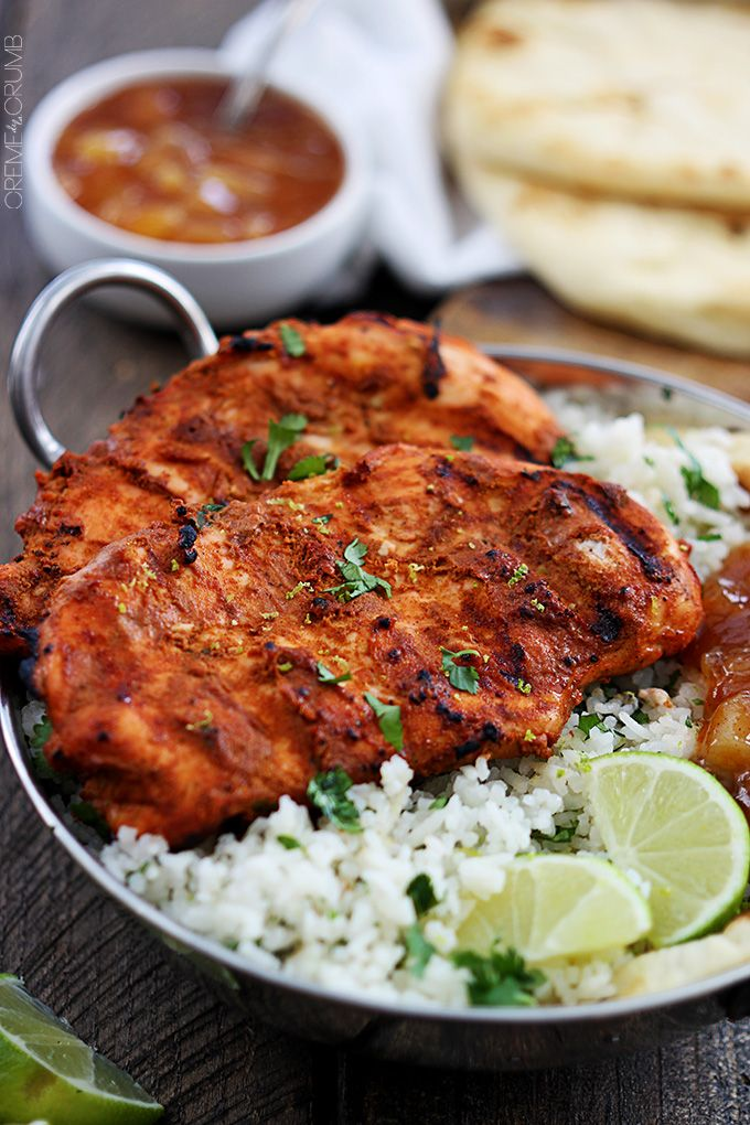 Tandoori chicken ips a traditional Indian dish full of bold and spicy flavors! A 30 minute marinade and a few minutes on the grill will deliver this tasty dish!