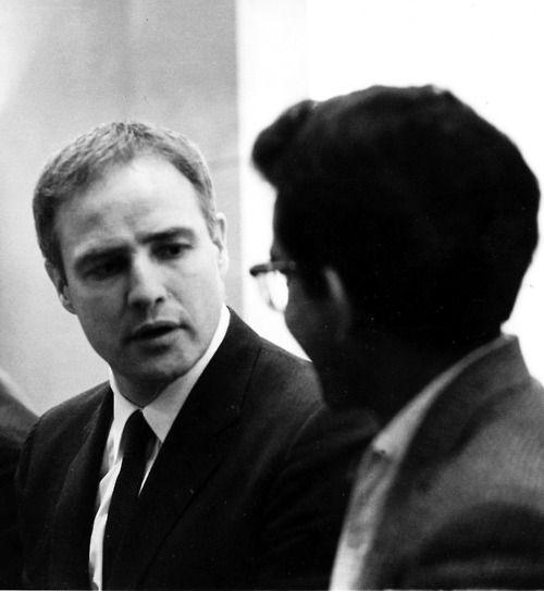 Marlon Brando meeting with members of the Anti Apartheid Movement, ca. 1963.
