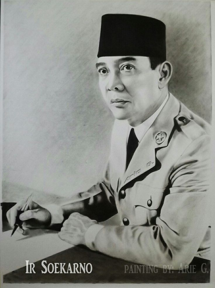 Mr Ir Soekarno , also known as Bung Karno was the first president of Republic Of Indonesia. I made this painting with the drybrush technique.