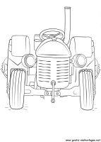 Malvorlagen kleiner roter Traktor, Kostenlose Malvorlagen gratis und kostenlos Ausmalbilder