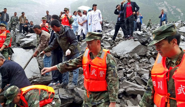 Over 120 people buried by massive southwest China