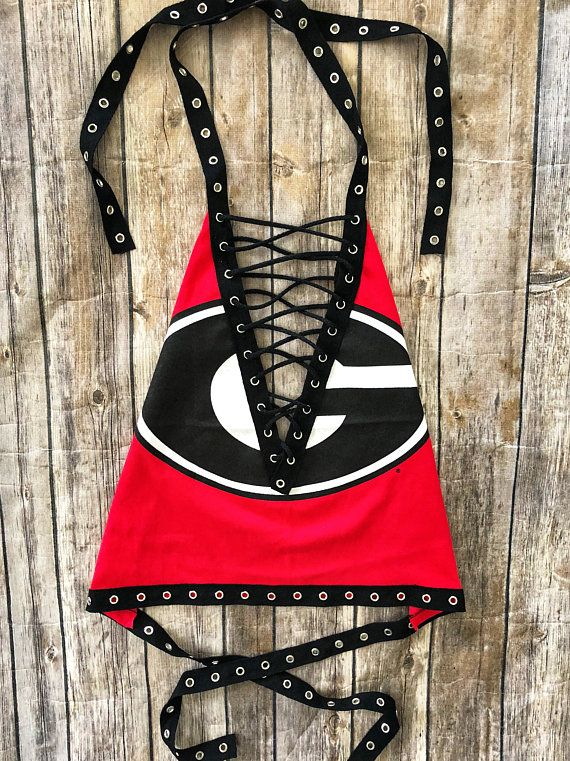 9956eede322 Georgia Bulldogs Lace Up Halter Top College Games