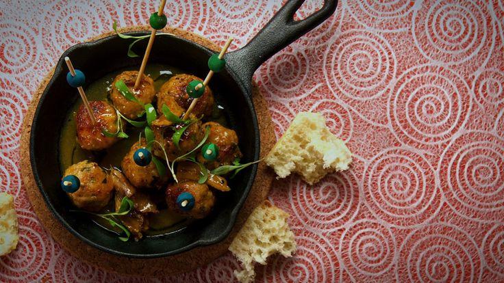 Mini boulettes de porc, sauce safran - Marie-Fleur St-Pierre