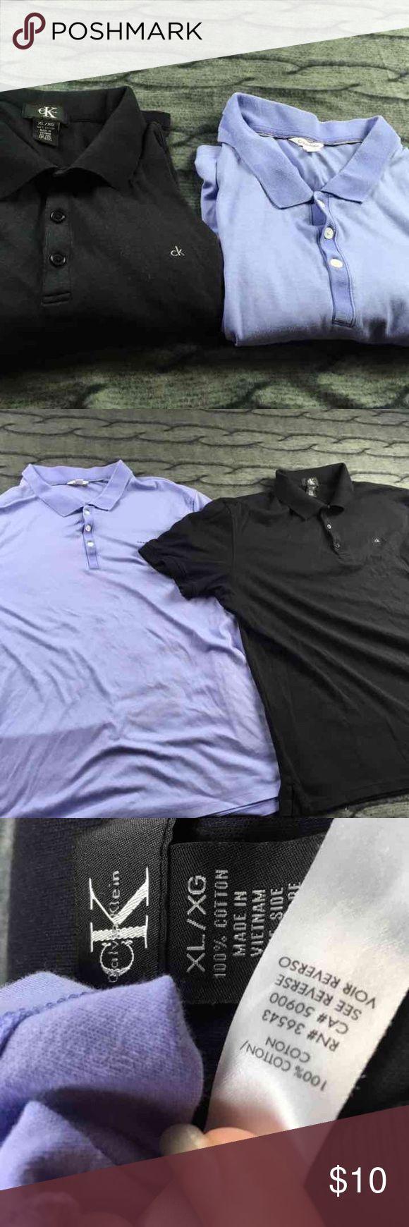 2 100% cotton polo shirts Calvin Klein XL 2 100% cotton polo shirts Calvin Klein good condition. C16 Calvin Klein Shirts Polos