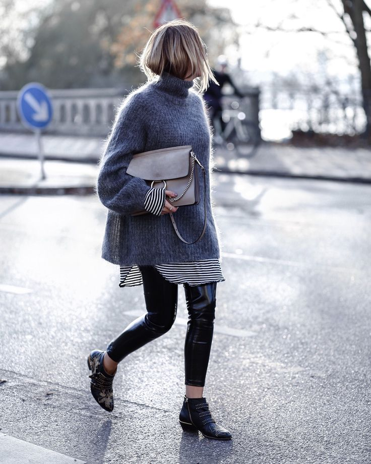 Oversized style, oversized sweater outfit, fall style, winter style, Chloe Susanna boots, Chloe Faye bag, casual outfit