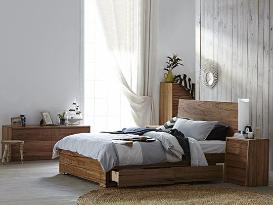 Iris Deluxe Bed Frame (with 4 drawers): Queen Storage Bed