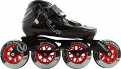 Skate Out Loud Vanilla Assassin Inline Speed Skates Varies by Size by Skate Out Loud. $217.00. Wheels: Vanilla Y7 Speed . Plate: 7000 SeriesAluminum . Boot: Vanilla Assassin . Bearings: Abec 7 Race bearings. The new Vanilla Assassin Inline ,Speed Skates from Vanilla features a half fiber glass,half carbon fiber,heat ,moldable boot. 4Ã-100mm 12.4 inch,7000 series aluminum,lightweight frame. ABEC7 ,Vanilla race bearings. 4x100mm Vanilla Y7 speed wheels. Sizes 5-13