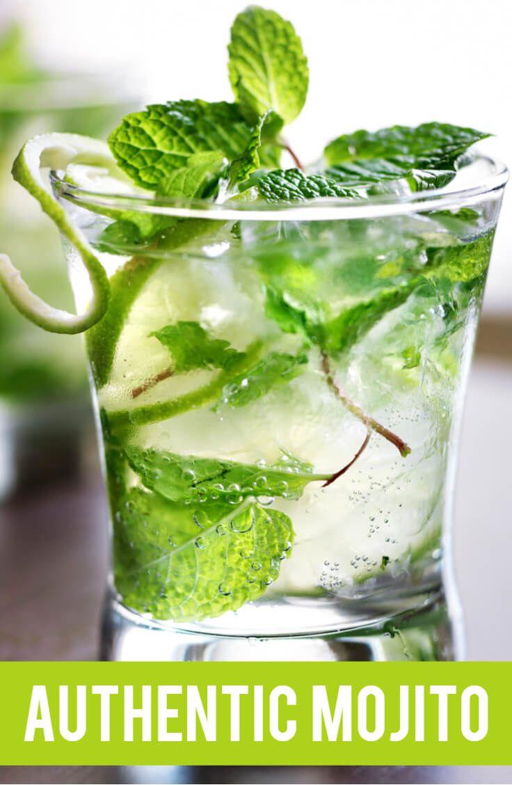 Authentic Mojito Recipe Mojito Easy Healthy Salad Refreshing Drinks