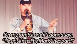"On my tombstone it's gonna say: ""He got kissed by Mark Sheppard."" Bobby #Supernatural<-- This. x3"