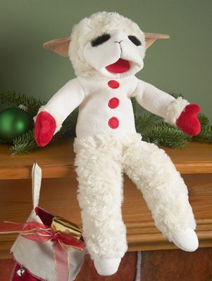 Lamb Chop Puppet reproduction of the 1950s original just as you remember, right down to the trademark fluffy eyelashes. 17 inch tall plush Lamb Chop hand puppet.