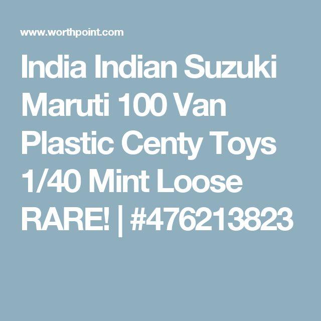 India Indian Suzuki Maruti 100 Van Plastic Centy Toys 1/40 Mint Loose RARE!   #476213823