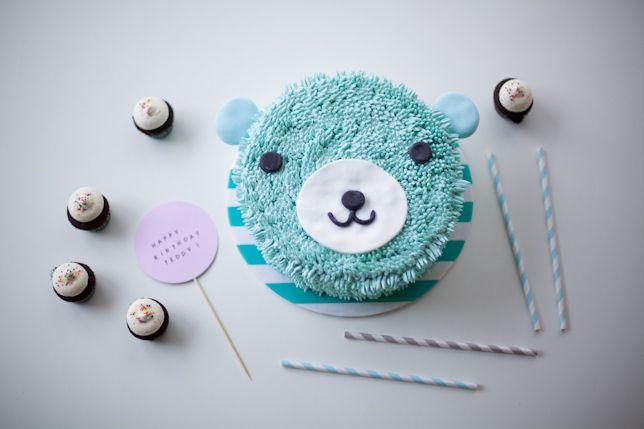 blue bear cake - coco cake land