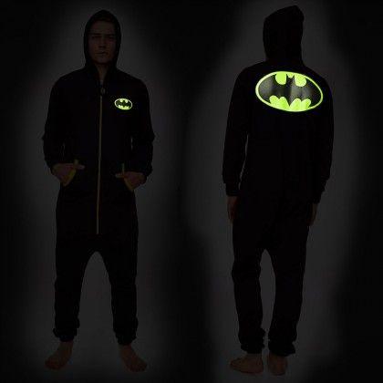 Combinaison Batman Phosphorescente avec Capuche : Achat Cadeau Geek Batman sur Rapid-Cadeau.com