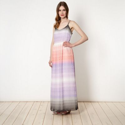 Jonathan Saunders/EDITION Designer purple geometric stripe ombre maxi dress- at Debenhams.ie