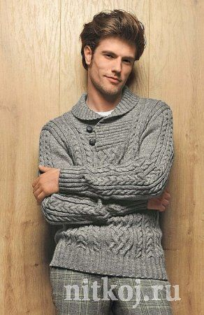 Suéter de los hombres de punto