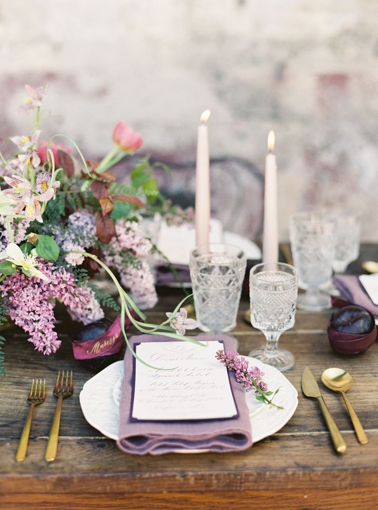 Photography: Jessica Burke - www.jessicaburke.com  Read More: http://www.stylemepretty.com/2015/05/18/purple-garden-glam-wedding-inspiration/