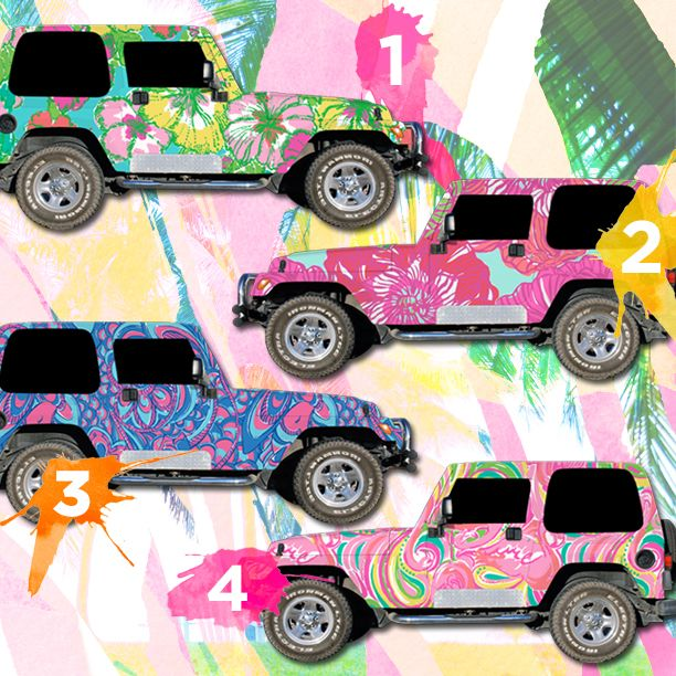 22 best lilly pulitzer jeeps images on pinterest southern prep prep life and prep style. Black Bedroom Furniture Sets. Home Design Ideas