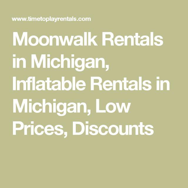 Moonwalk Rentals in Michigan, Inflatable Rentals in Michigan, Low Prices, Discounts