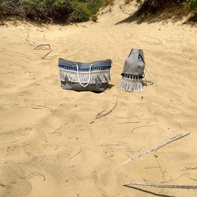 Follow the 'Breeze'  #summer #summerbag #beach #blue #beachstyle #summerstyle #canvasbag #seabag #pompom #fringes #vessels #summeringreece #greekislands #handmadeingreece #handcrafted #ropes #sun #sunset #breeze #canvas #sac #sand