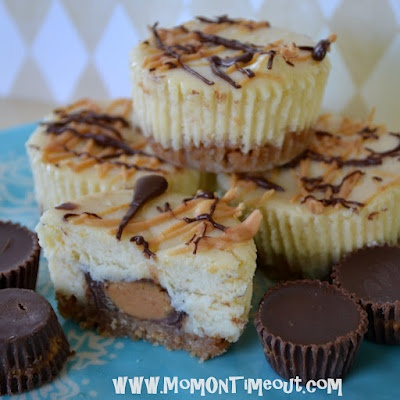 Reeses Peanut Butter Cup Mini Cheesecakes