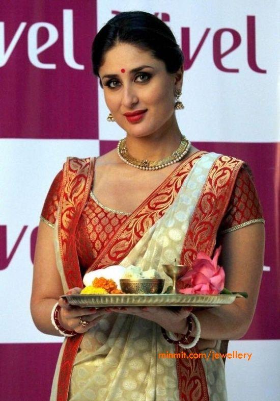 Kareena Kapoor wearing an amazing wedding saree
