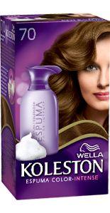 Espuma para coloração do cabelo: Espuma Koleston Cor-Intense 7.0 louro médio