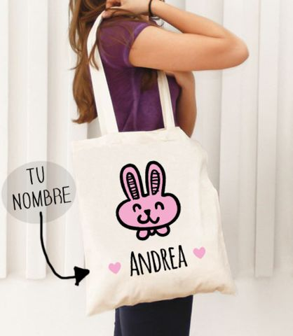 Bolsa de Tela Conejito Personalizada