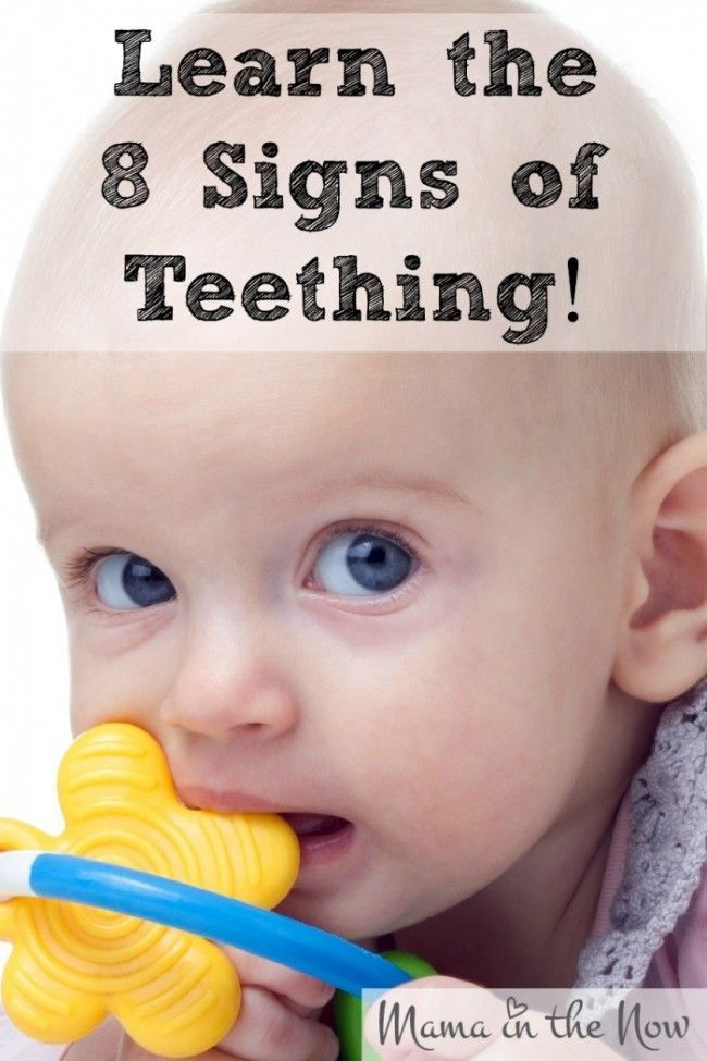 Learn the 8 signs of teething. Once you know the signs you can comfort your baby much easier.Click to read more or pin and save to read later.