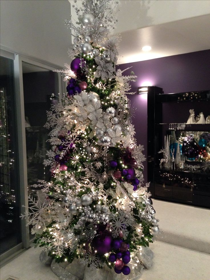 25+ unique Purple christmas tree decorations ideas on Pinterest - christmas floral decorationswhere to buy christmas decorations