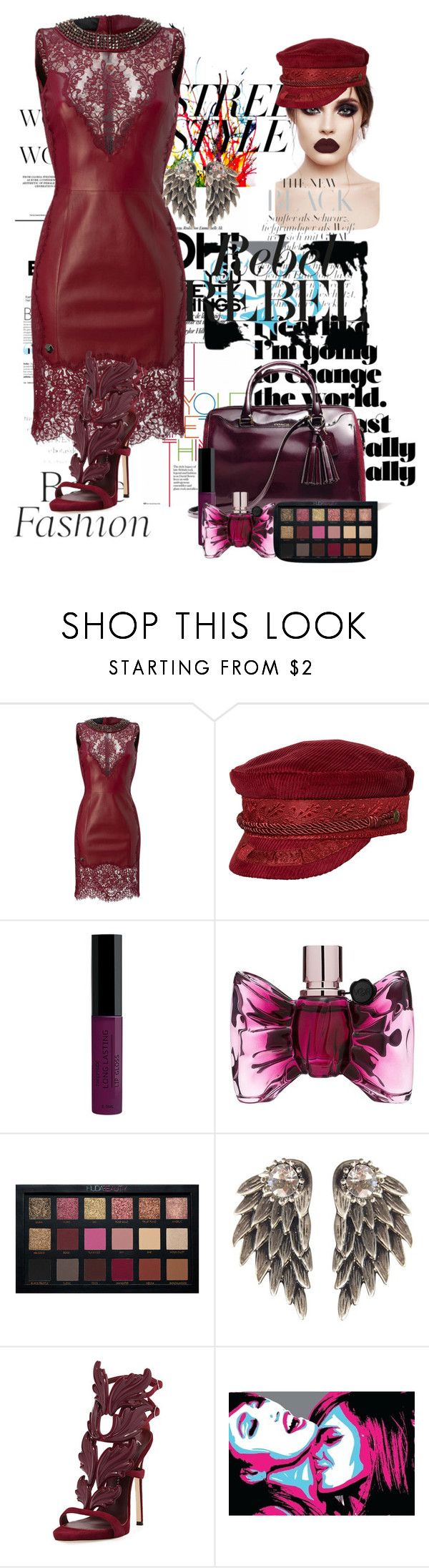 """""""Untitled #256"""" by tanya-gosnell-brewer ❤ liked on Polyvore featuring Brixton, Viktor & Rolf, Giuseppe Zanotti, Marmont Hill, Damaris, contestentry and nyfwstreetstyle"""