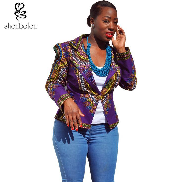 spring autumn 2016 Women Coat African clothing dashiki batik print long sleeve suit western-style clothes pure cotton wax print