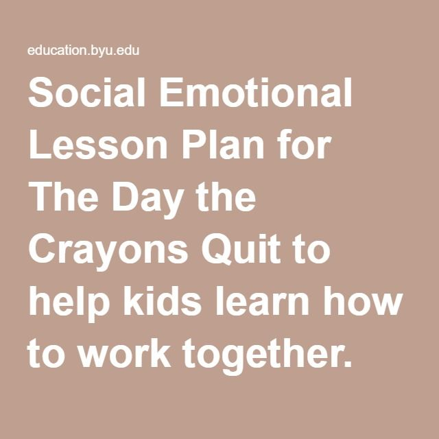 Social Emotional Lesson Plan for